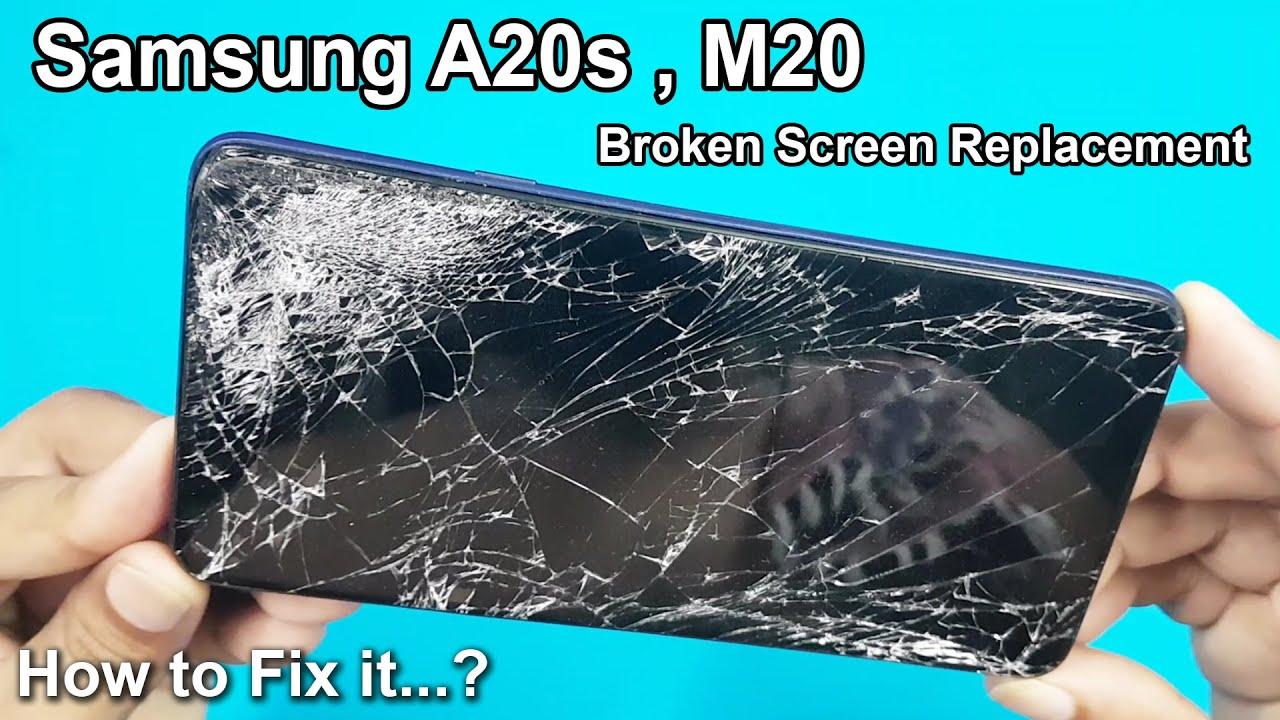 Màn hình Samsung A20 bị rơi vỡ