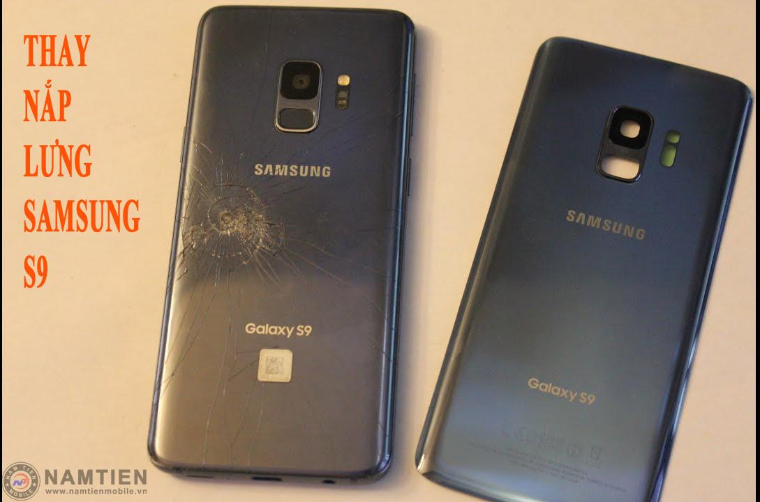 Thay mặt kính sau Samsung S9 chính hãng