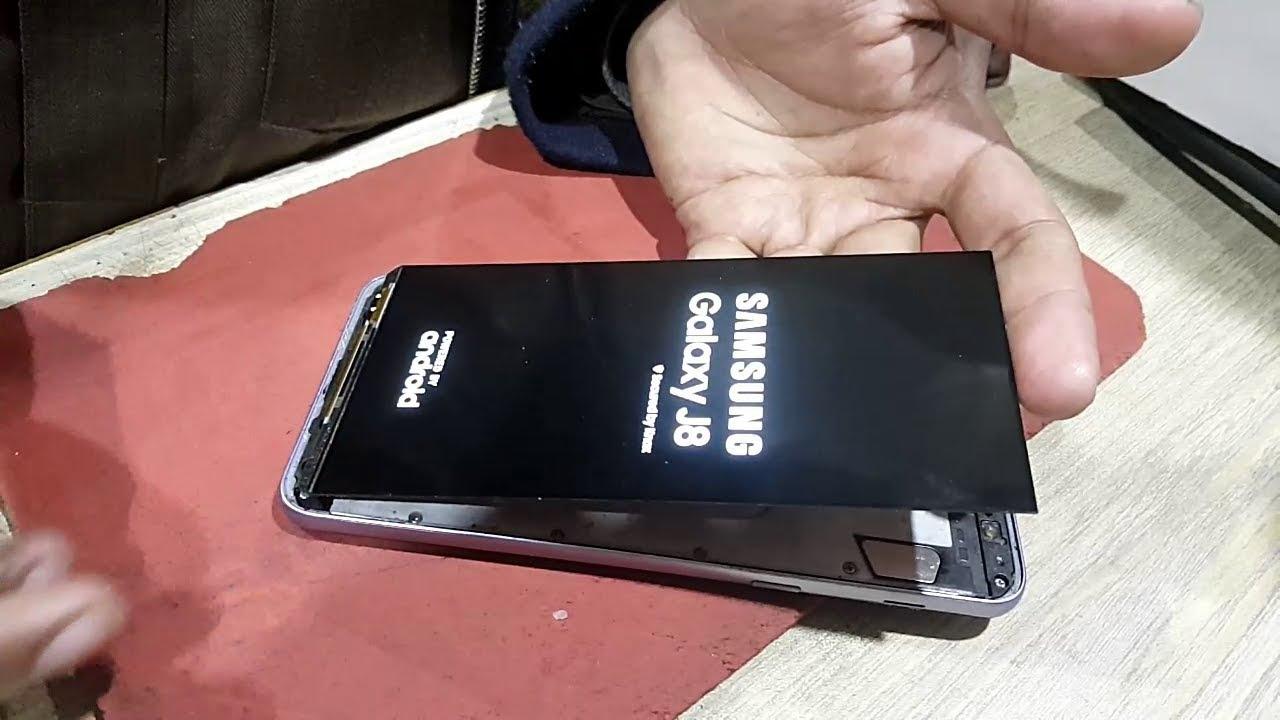 Ép kính Samsung J8 chính hãng