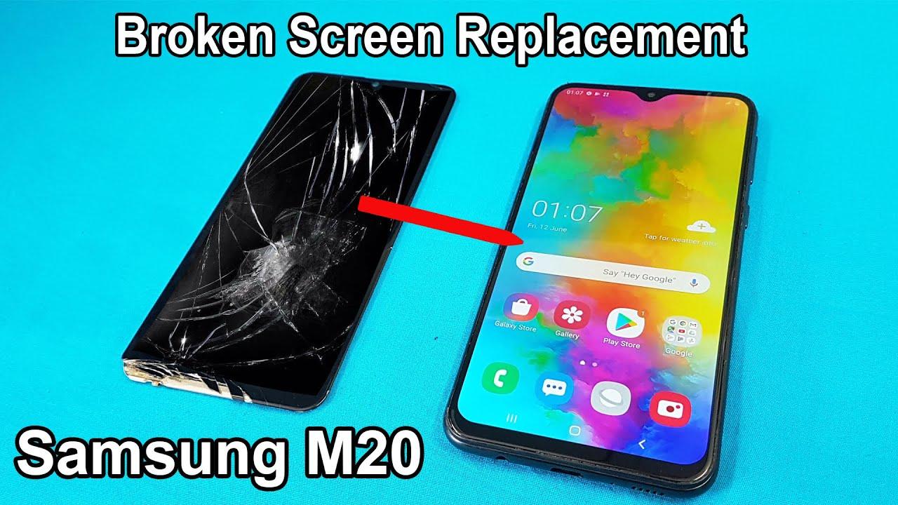 Ép kính Samsung M20 chính hãng