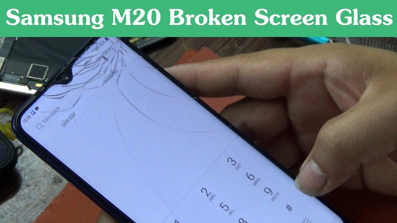 Màn hình Samsung M20 bị rơi vỡ cần thay mới