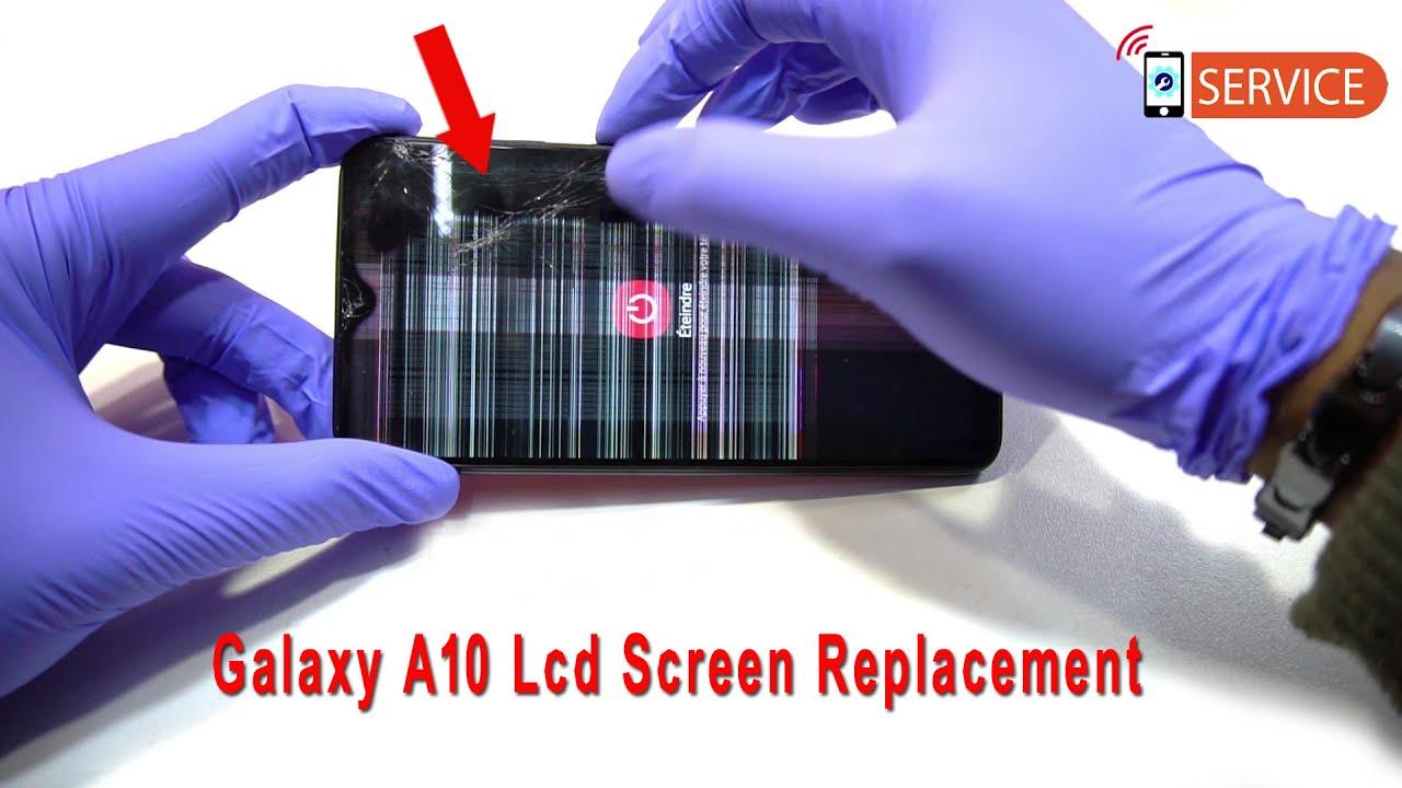 Màn hình Samsung A10 bị sọc cần thay mới