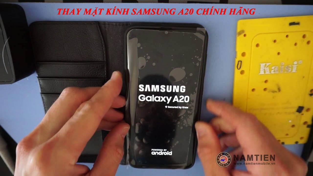 Thay mặt kính Samsung A20 chính hãng