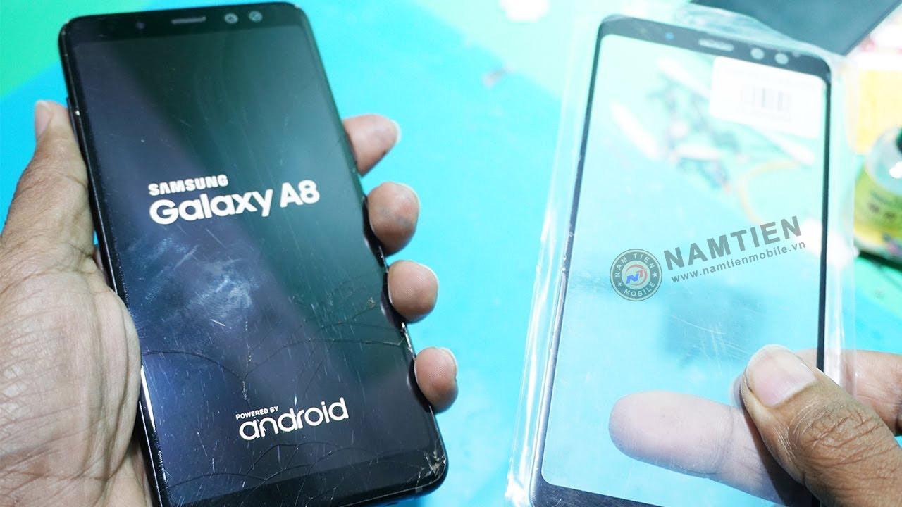 Thay mặt kính Samsung A8 chính hãng