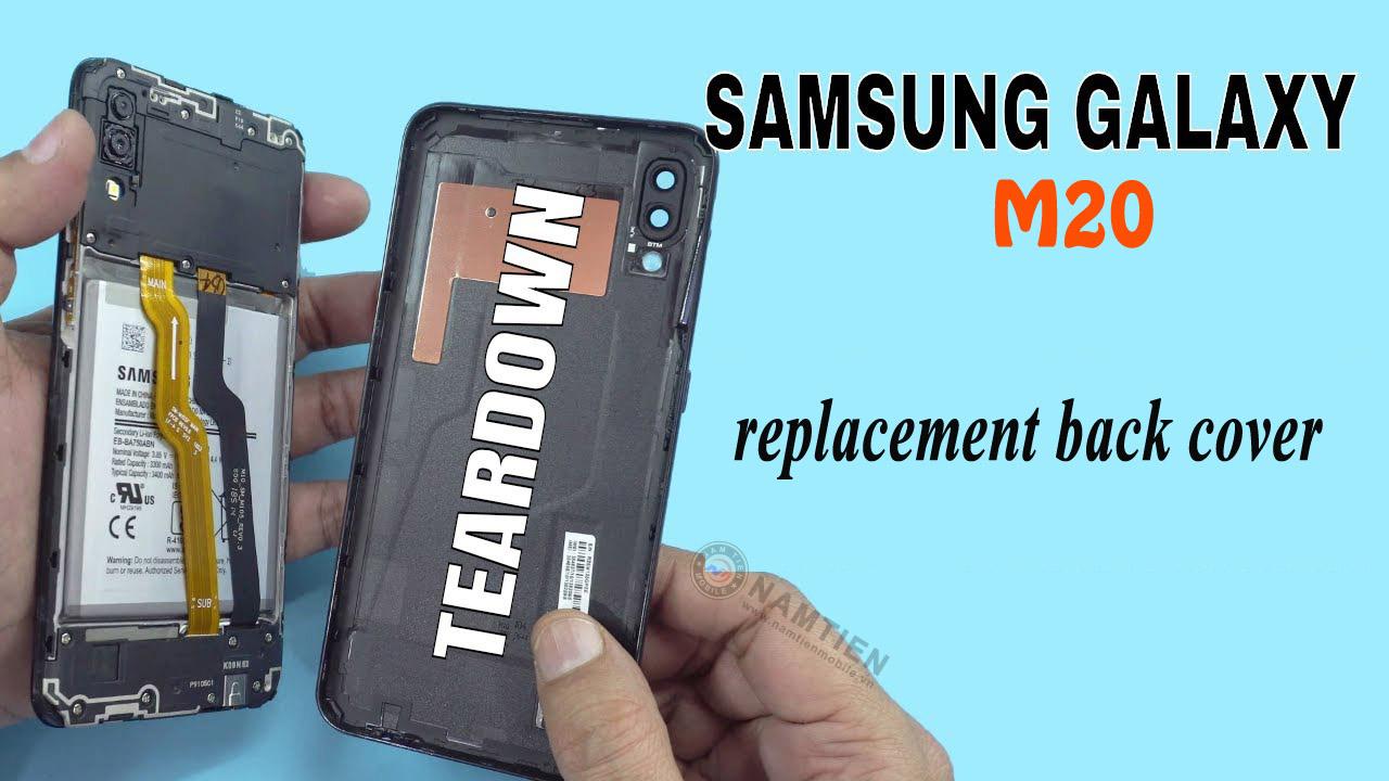 Thay mặt kính sau Samsung M20 giá rẻ