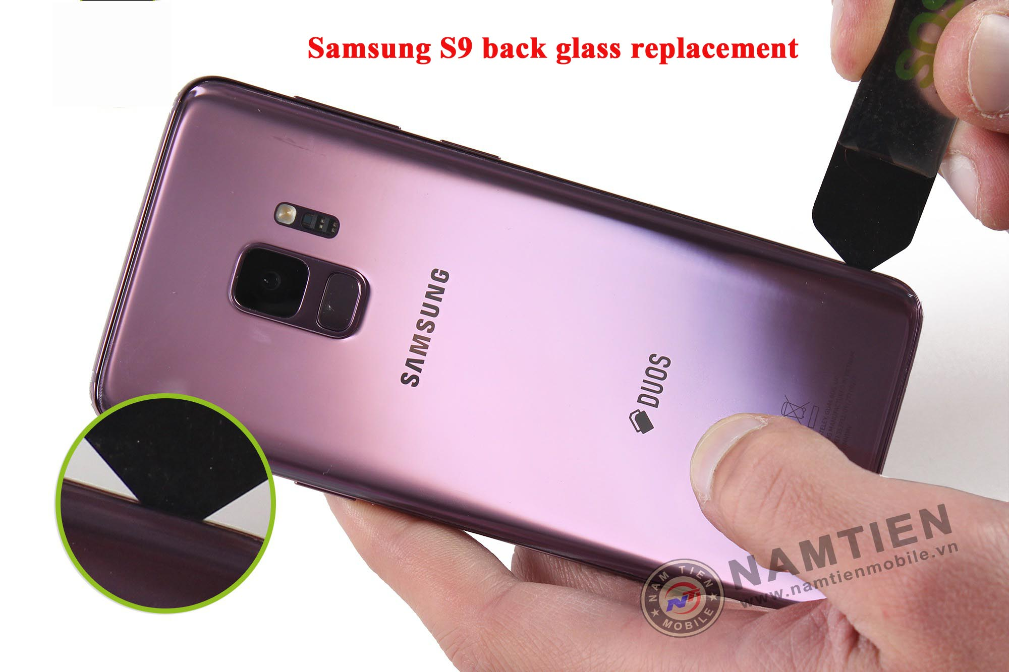 Thay mặt kính sau Samsung S9 giá rẻ