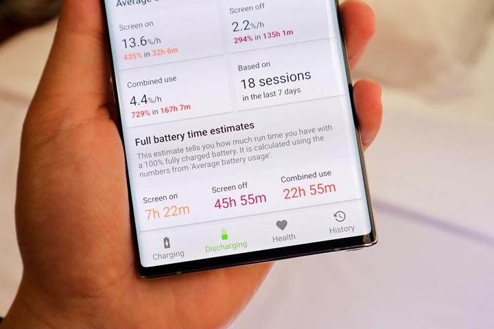 Đánh giá pin Samsung Note 10 Plus