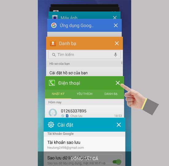 Tắt tất cả các ứng dụng chạy ngầm trên điện thoại Samsung