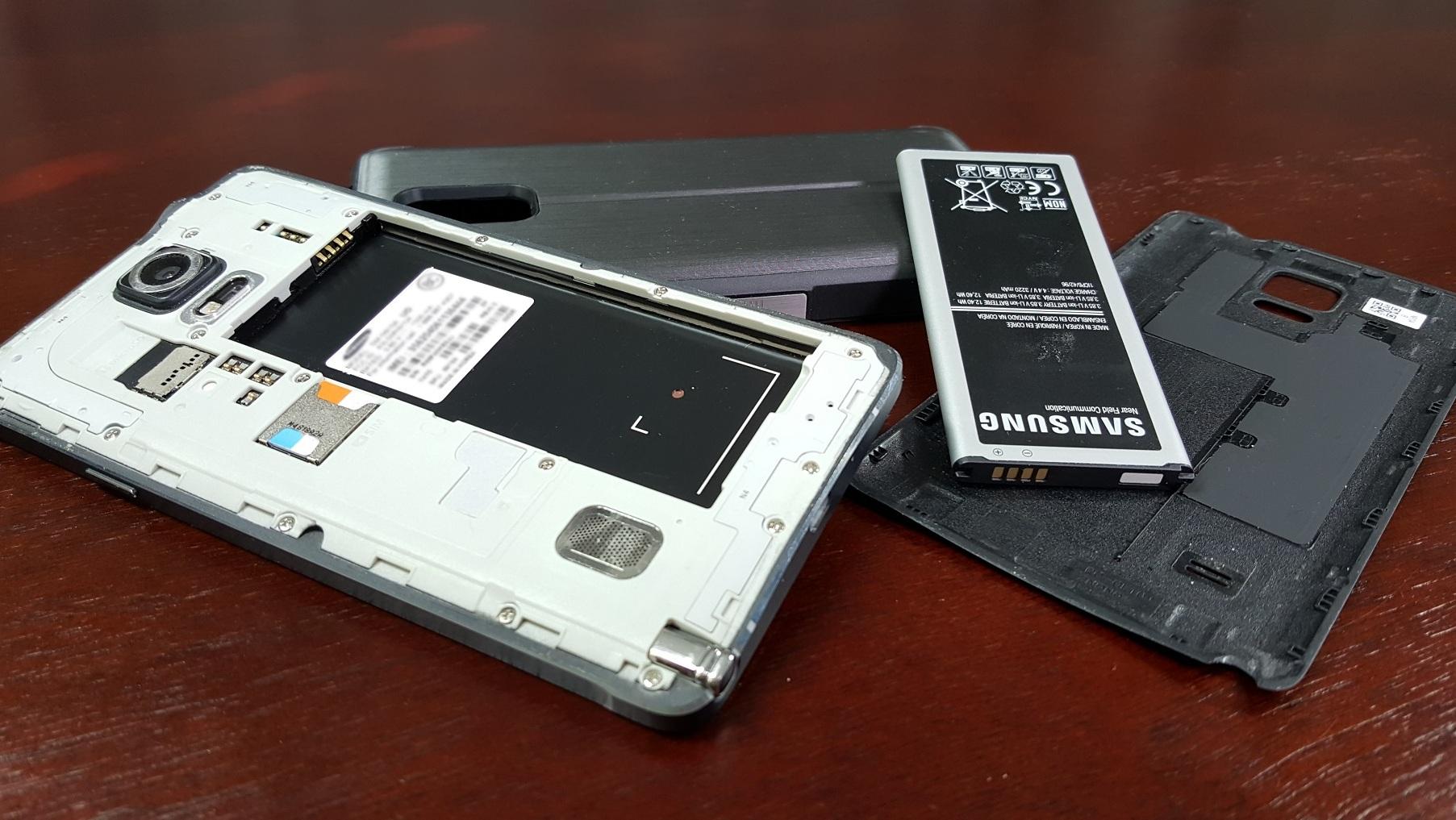 Thay pin Samsung Note 4 chính hãng HCM